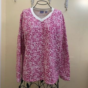 Kaura Scott Petite | Floral V- Neck Sweater Large